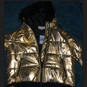 Michael Kors Gold Puffer Jacket
